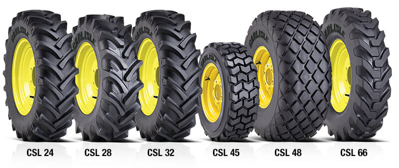 Carlisle branded large diameter tires