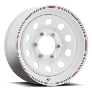 Carlisle Highway Supreme Trailer Wheel - White with Red and Blue Stripes